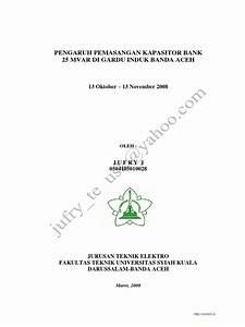 Pengaruh Pemasangan Kapasitor Bank Di Gardu Induk Banda Aceh