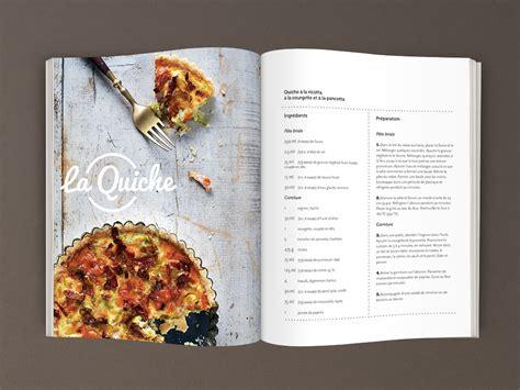 livre recette cuisine mise en page de trois recettes dans un magazine fictif