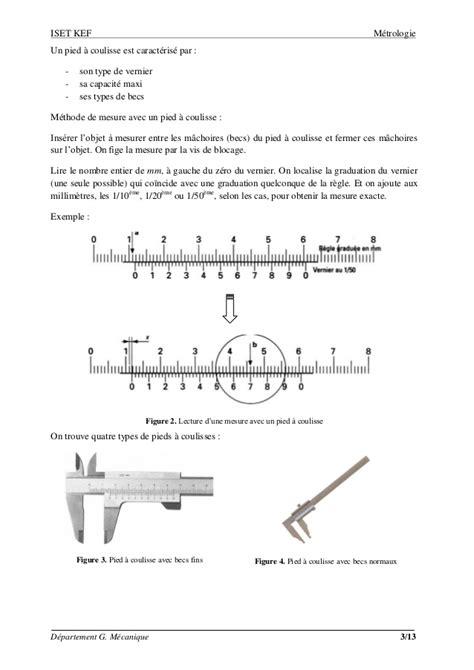 le de lecture sur pied m 233 trologie les instruments de mesure