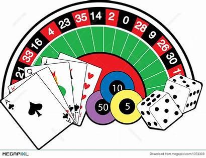 Casino Cartoon Clipart Table Illustration Webstockreview Megapixl