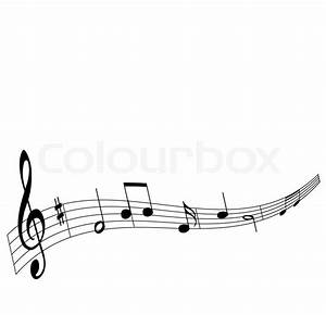 Music notes vector background | Stock Vector | Colourbox