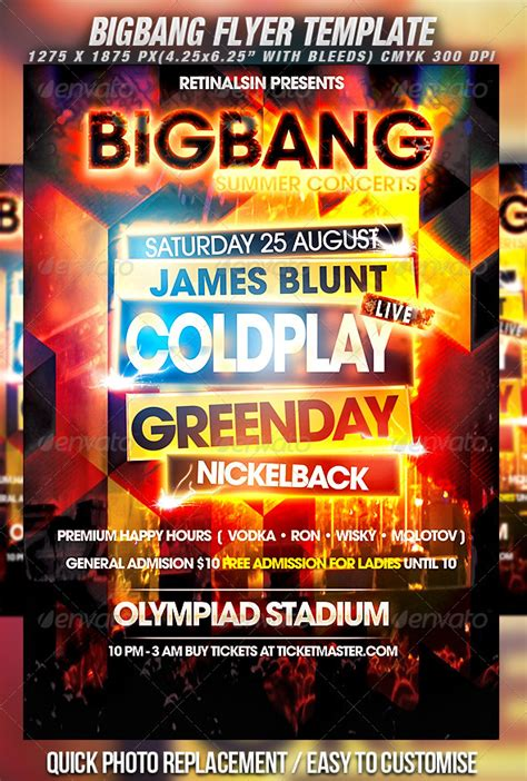 concert flyer template bigbang flyer template by mexelina graphicriver