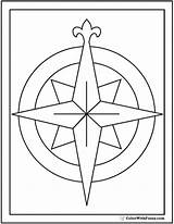 Compass Coloring Rose Sheet Template Fill Pdf Printables sketch template
