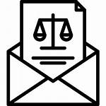 Court Icons Icon Mail Envelope Letter Law