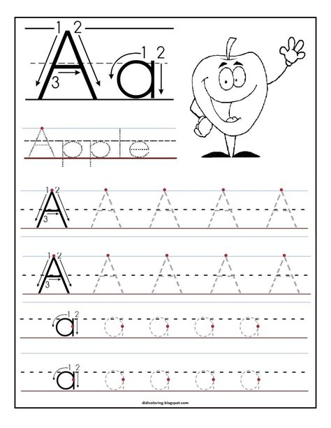 free printable worksheet letter a for your child to learn