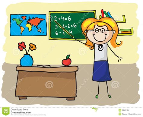 teacher cartoons illustrations vector stock images