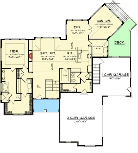 craftsman house plans with basement craftsman ranch with walkout basement 89899ah 1st ranch