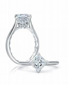 ajaffe simple princess cut quilted engagement ring With simple princess cut wedding rings