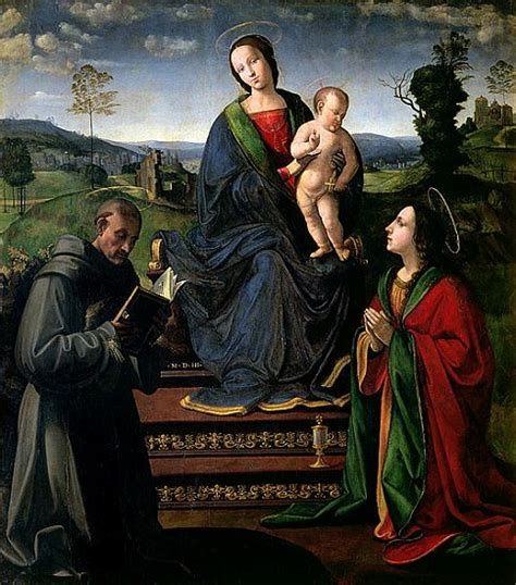 madonna and child with st francis of as il ghirlandaio ridolfo bigord as print or