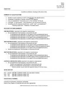 Functional Style Resume Sample