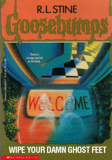 literal goosebumps covers warped factor words