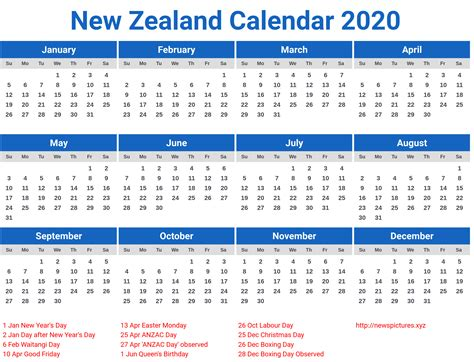 zealand calendar printcalendarxyz