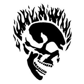 flaming skull stencil  stencil gallery