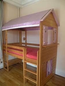 Lit Cabane Avec Tiroir : fabriquer un lit cabane en bois pour enfant ~ Teatrodelosmanantiales.com Idées de Décoration