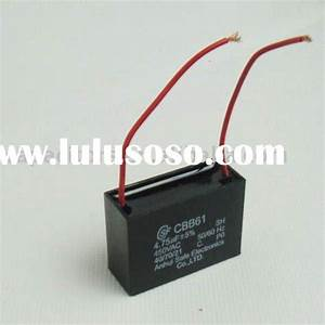 Best Price Cbb61 Wire Ceiling Fan Capacitor 4 75uf For