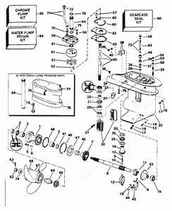 Evinrude 1996 25 - E25teeda  Gearcase