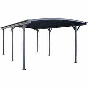 Carport En Aluminium : carport alu anthracite 3x6 47m toit polycarbonate 6mm x ~ Maxctalentgroup.com Avis de Voitures