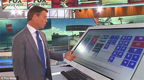 foxs  newsroom  giant touchscreens