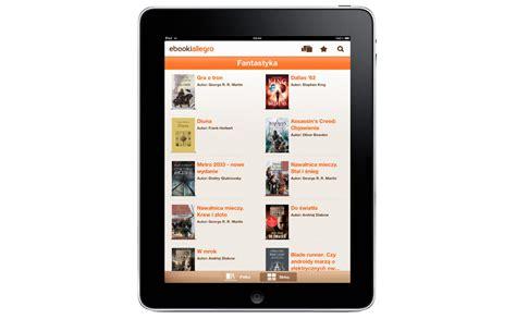ebooki allegro teraz r 243 wnież dla ipada gt tablety pl