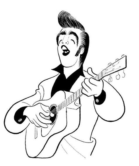published caricature  elvis presley elvis