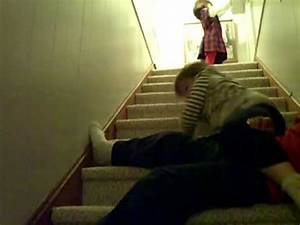 Kids falling down stairs - YouTube