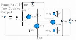 Mono Power Amplifier Using A1015  Bd140  Tip2955 In 2019