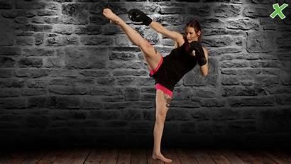 Martial Arts Kick Pose Wallpapers Training Boxing