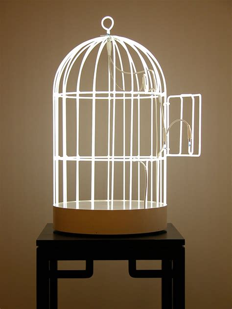 images of bird cages neon swing bird cage by su mei tse colossal