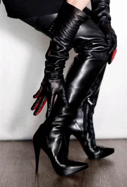 Boots Gloves Heels Leather Browncafe Try