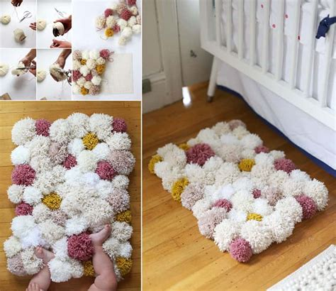 Pom Pom Rug by Colorful Diy Pom Pom Rug And Another Creative Projects