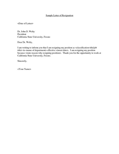 letter  resignation   weeks notice job