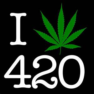 I Love 420 Pot Leaf Black T-Shirt – Men's@ RastaEmpire.com