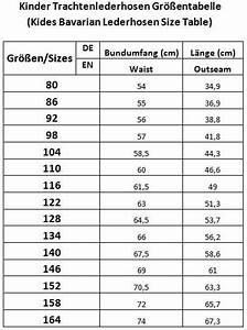 Fahrradgröße Berechnen Kinder : gr entabelle konfektionsgr en trachtenmode motorradbekleidung ~ Themetempest.com Abrechnung