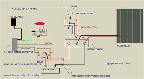 Slot Car Track Wiring Diagram by Track Call Buttons Auslot Forums