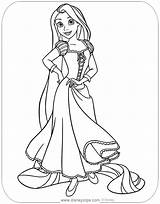 Rapunzel Coloring Pages Tangled Disney Printable Disneyclips Mother Gothel Pdf Pascal Posing sketch template