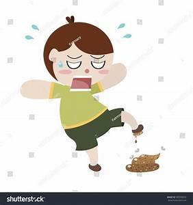 Careless Man Step On Feces Cartoon Vector - 300390032 ...
