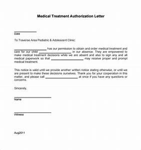 Sample medical treatment authorization letter 9 free for Sample letter of consent for medical treatment