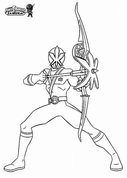 Rangers Power Coloring Ranger Samurai Mewarnai Colouring