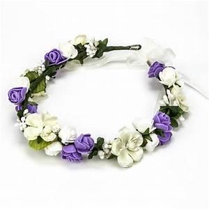 Couronne Fleur Cheveux Mariage : couronne de fleurs mariage ~ Melissatoandfro.com Idées de Décoration