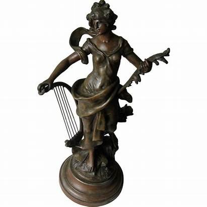 Auguste Bronze Statue Moreau Melodie Rubylane Mtl