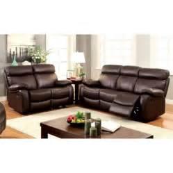 furniture of america marrona 2 piece grain leather
