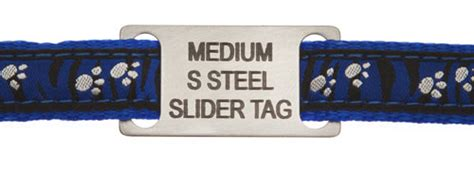 Medium Stainless Steel Slide On Pet Id Tags For Agility Dogs