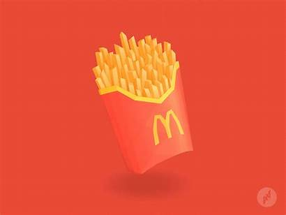 Fries Mcdonald Mcdonalds Animation Hau Andy Dribbble