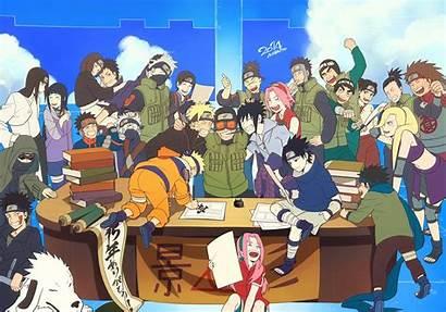 Konoha Naruto Konohamaru Ino Lee Rock Shikamaru