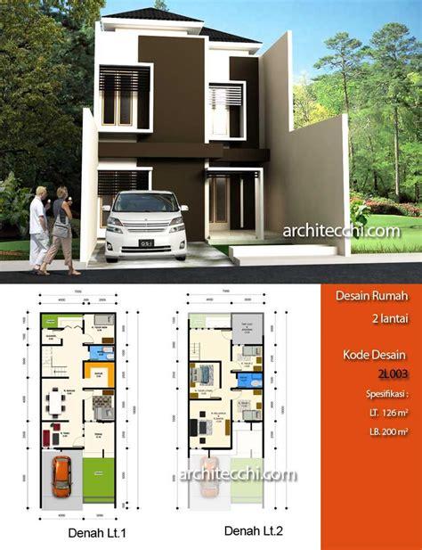 desain rumah minimalis lebar  meter kumpulan desain rumah
