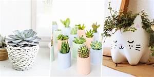 Pot Fleur Ikea : diy d co 30 id es pour customiser un cache pot marie claire ~ Teatrodelosmanantiales.com Idées de Décoration