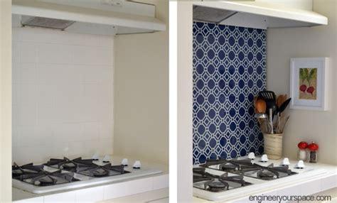 temporary kitchen backsplash diy temporary kitchen backsplash 183 diyer club