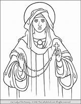 Rosary Coloring Lady Pages Catholic Guadalupe Mary Feast Drawing Pray Mysteries Church Thecatholickid Holy Praying Prayer Children Mother Kid Blessed sketch template