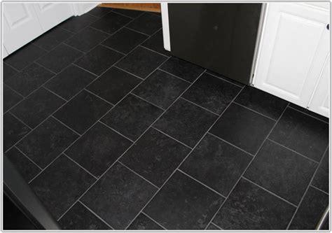 Shiny Black Ceramic Floor Tile Tiles  Home Design Ideas
