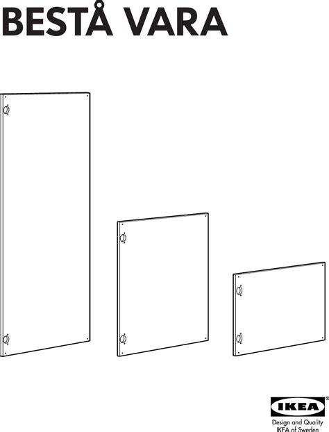 Besta Vara Door by Ikea Besta Vara Door 23 5 8x15 Assembly